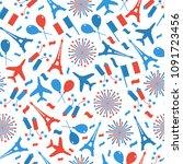 bastille day  independence day... | Shutterstock .eps vector #1091723456