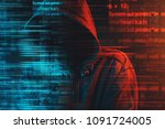 stereotypical image of computer ...   Shutterstock . vector #1091724005