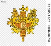 symbol of france. national... | Shutterstock .eps vector #1091725796