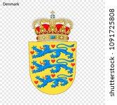 symbol of denmark. national... | Shutterstock .eps vector #1091725808