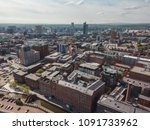 aerial city centre drone above... | Shutterstock . vector #1091733962