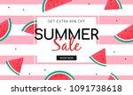 summer sale banner vector...   Shutterstock .eps vector #1091738618