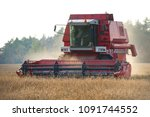 a combine creates a swirling... | Shutterstock . vector #1091744552