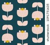 modern vector abstract seamless ... | Shutterstock .eps vector #1091751635