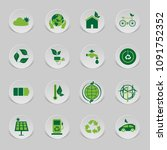 icon environmental and eco... | Shutterstock .eps vector #1091752352
