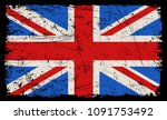 grunge uk flag.vector flag of... | Shutterstock .eps vector #1091753492
