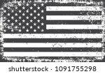 grunge american flag.vintage... | Shutterstock .eps vector #1091755298