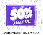 summer sale  50  off  special... | Shutterstock .eps vector #1091756615