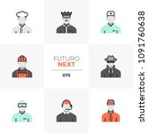 modern flat icons set of people ... | Shutterstock .eps vector #1091760638