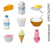 illustration of  icons set... | Shutterstock .eps vector #1091761595