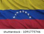 venezuela flag printed on a... | Shutterstock . vector #1091775746