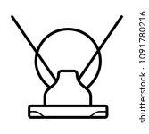 antenna icon. television antenna | Shutterstock .eps vector #1091780216