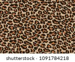 Leopard Fur Texture  Carpet...