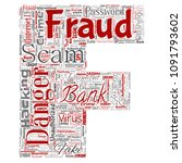 vector conceptual bank fraud... | Shutterstock .eps vector #1091793602