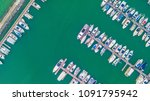 aerial view of yacht marina | Shutterstock . vector #1091795942