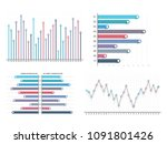 bar graph and line graph... | Shutterstock .eps vector #1091801426