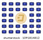 block chain technology of dash... | Shutterstock .eps vector #1091814812