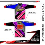 long sleeve motocross jerseys t ... | Shutterstock .eps vector #1091817152