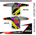 long sleeve motocross jerseys t ... | Shutterstock .eps vector #1091817368