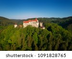 moravian castle pernstejn ...   Shutterstock . vector #1091828765