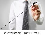businessman drawing graphics a... | Shutterstock . vector #1091829512