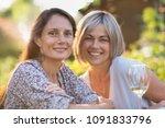portrait of two beautiful women ... | Shutterstock . vector #1091833796