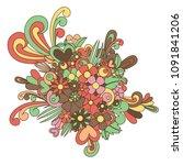 tangle pattern ornament blossom.... | Shutterstock .eps vector #1091841206