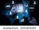 architecture of erp  enterprise ... | Shutterstock . vector #1091855105