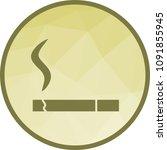 lit cigarette icon | Shutterstock .eps vector #1091855945
