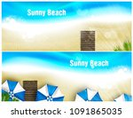 set of beach banner for poster... | Shutterstock .eps vector #1091865035