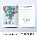 modern vector template for... | Shutterstock .eps vector #1091868488