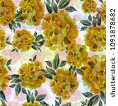 peony. seamless background....   Shutterstock . vector #1091878682