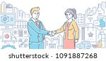 small business helps people  ...   Shutterstock .eps vector #1091887268