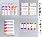 timeline infographic design... | Shutterstock .eps vector #1091888018
