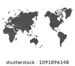 world map outline contour... | Shutterstock .eps vector #1091896148