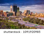 perth. cityscape image of perth ... | Shutterstock . vector #1091920985