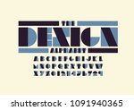vector of modern abstract font... | Shutterstock .eps vector #1091940365