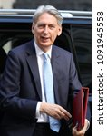 Small photo of LONDON - MAY 15, 2018: Philip Hammond Chancellor of the Exchequer arrives to Downing Street for weekly cabinet meeting