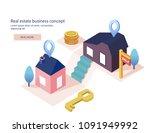 real estate business concept... | Shutterstock .eps vector #1091949992