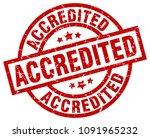 accredited round red grunge... | Shutterstock .eps vector #1091965232