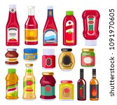 Sauces And Dressings Bottles...