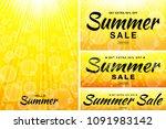 summer sale template banners....   Shutterstock .eps vector #1091983142