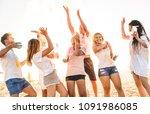 group of happy friends having...   Shutterstock . vector #1091986085
