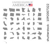 states of america territory on... | Shutterstock .eps vector #1092007322