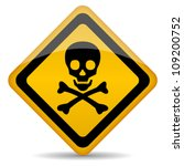 skull rhombus sign  eps10... | Shutterstock .eps vector #109200752