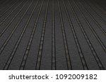 black wood floor background | Shutterstock . vector #1092009182