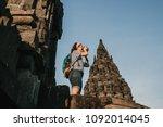 young tourist woman takin... | Shutterstock . vector #1092014045