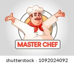 master chef  icon or logo for... | Shutterstock .eps vector #1092024092