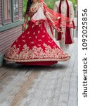 pakistani and indian bridal... | Shutterstock . vector #1092025856