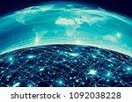 earth from space. best internet ...   Shutterstock . vector #1092038228